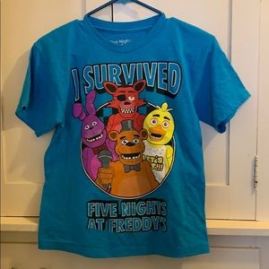 Five Nights at Freddys Blue Tee Shirt Size Small